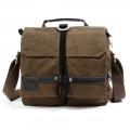 RUSH R6712 Canvas DSLR Camera Bag Shoulder Messenger Bag - Brown